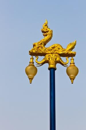 Thai style pillar photo