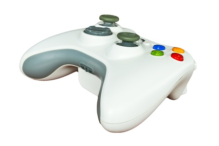 Game controller on white background Stock Photo