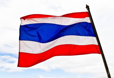 Thai national flag Stock Photo