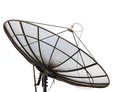 bowl frequency: Isolated satellite dish