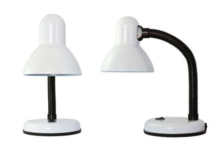 Desk lamp on white background