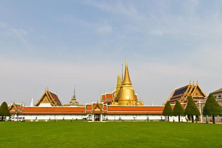 Wat Phra Kaew, landmark of Bangkok, Thailand Stock Photo