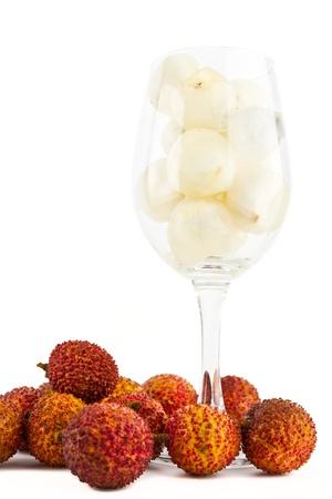 lichi: Lichi in wine glass