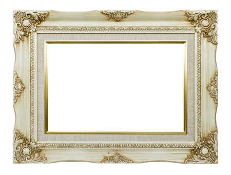 marco madera: Antiguo marco blanco