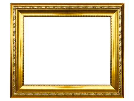 Antique gold picture frame Stock Photo