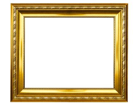 marco madera: Marco de fotos antiguas de oro