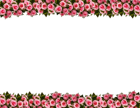 Picture frame by artificial pink rose Stock Photo - 9763250