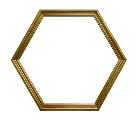 Hexagonal picture frame Stock Photo