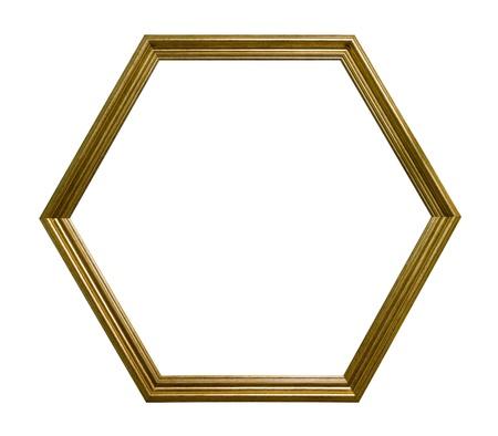 Hexagonal picture frame Stock Photo