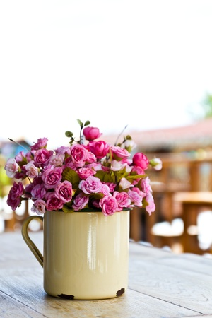 artificial flowers: Artificial flower in vase
