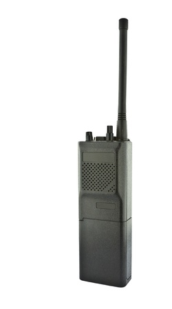talkie: Black walkie talkie on white background