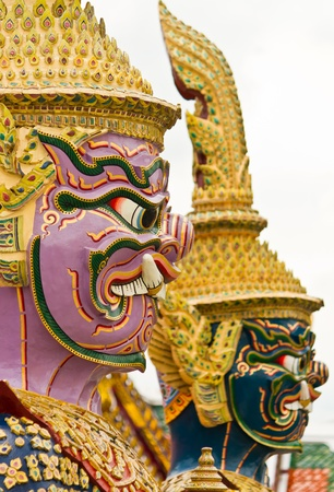 Thai giant guardian Stock Photo