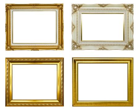 Set of rectangular vintage picture frames