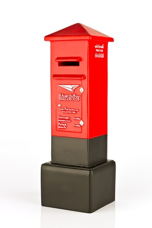 Model of Thai post box photo