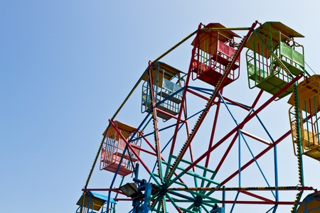 Colorful ferris wheel photo