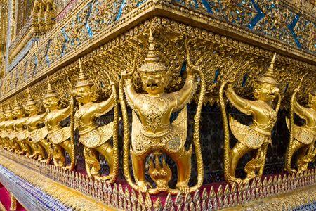 Sculpture at Wat Phra Kaew, Thailand Stock Photo