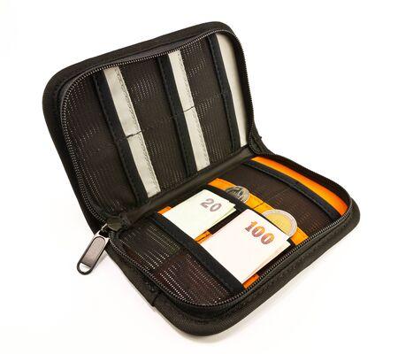 Money in memory card bag