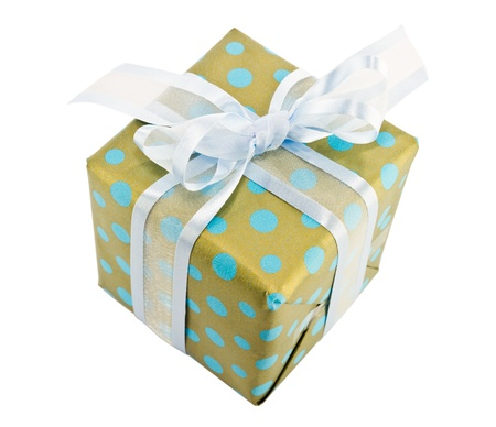 Gift box on white background photo