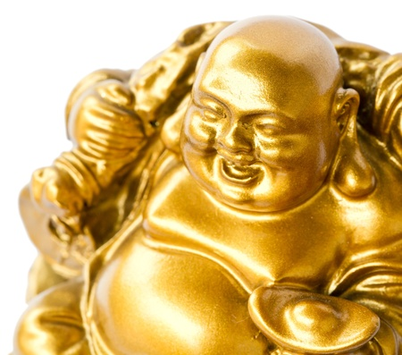 Smiling Buddha - Chinese God of Happiness, Wealth and Lucky Isolated on white background Stock Photo - 12863175