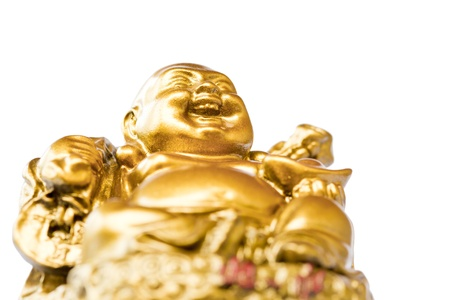 Smiling Buddha - Chinese God of Happiness, Wealth and Lucky Isolated on white background Stock Photo - 12964304