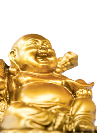 buddha image: Smiling Buddha - Chinese God of Happiness, Wealth and Lucky Isolated on white background