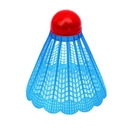 Badminton shuttlecock on white background