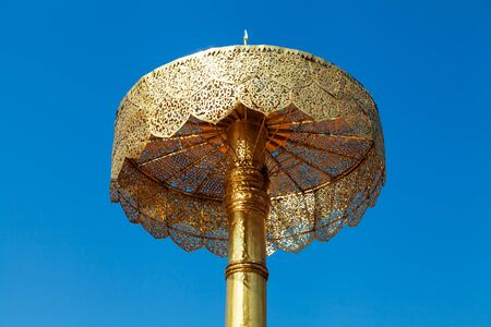 Umbrella in Wat Phra That Doi Suthep, Chiang Mai, Thailand photo