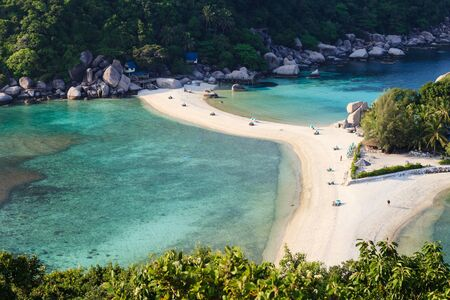 Beautiful beach of Nang Yuan island, Thailand photo