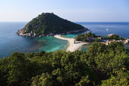 Nang Yuan island in Thailand, from view point on the top of mountain photo