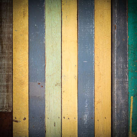 Colorful wood texture with vignette use for background photo