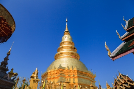 hariphunchai: Golden Pagoda at Wat Phra That Hariphunchai in Lamphun province