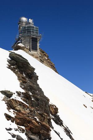 jungfraujoch: Sphinx high altitude observatory in Jungfraujoch pass in Switzerland