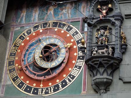Astronomical clock at Bern town square, Bern,  Switzerland.