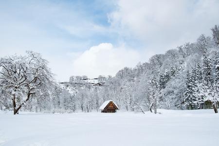 Historic Villages of Shirakawa-go and Gokayama, Japan. Winter in Shirakawa-go, Japan.