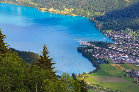 Lake Brienz from the view point of Harder Kulm, Interlaken, Switzerland