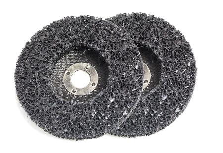 discs: abrasive discs isolated
