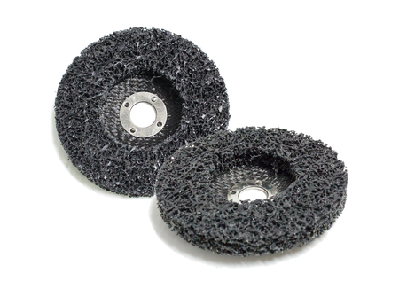 abrasive: abrasive discs isolated