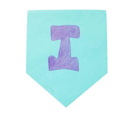 p illustration: font draw isolated on white Background.
