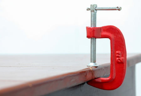 l hand: C-Clamp for table work shop
