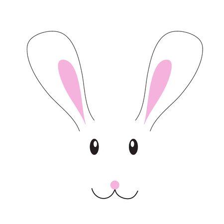 幸せなイースターをという看板を持っているウサギ