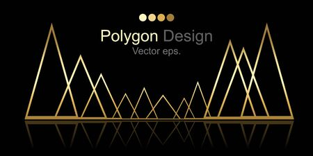 Golden Triangle design background.Web design, Technology, science, Design element. 向量圖像