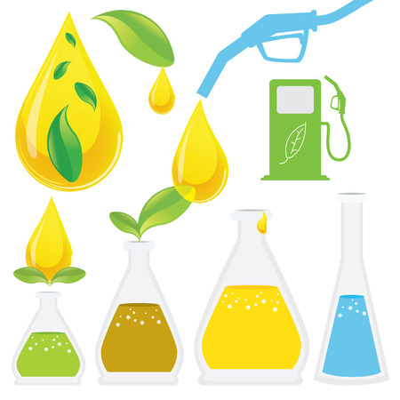 Biodiesel Production Process. It is renewable and natural domestic fuel extracted from animal fats or vegetable oils mostly from soy, bean, seed, palm oil. Illustration