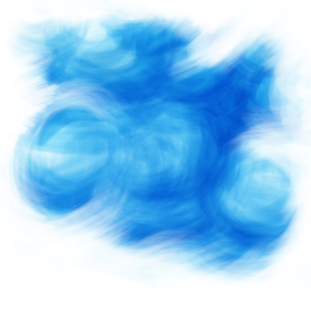 Blue colour background. Illustration of clouds, wind and sky painted by hand.