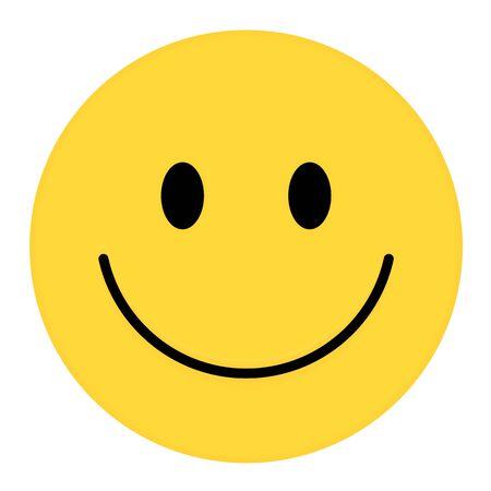 Smiley Face. Happy smiley emoji vector yellow. Vector happy circle face. 일러스트