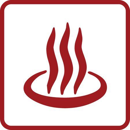Red Hot spring symbol for banner, general design print and websites. Illustration vector.