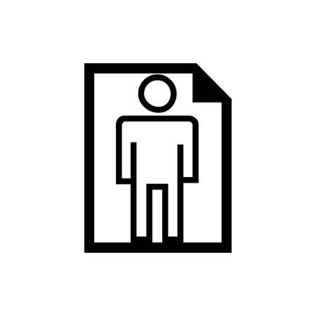 Black paper vertical symbol for banner, general design print and websites. Illustration vector.
