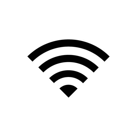 Black wifi symbol for banner, general design print and websites. Illustration vector. Standard-Bild - 133537210