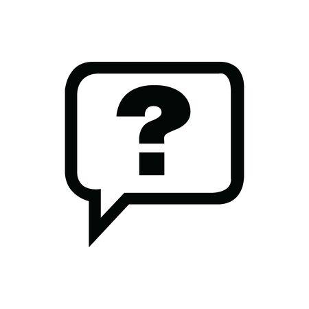 Black Question symbol for banner, general design print and websites. Illustration vector. Standard-Bild - 133537229