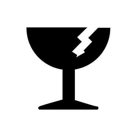 Black Package symbol. Fragile. For banner, general design print and websites. Illustration vector. Standard-Bild - 133537033