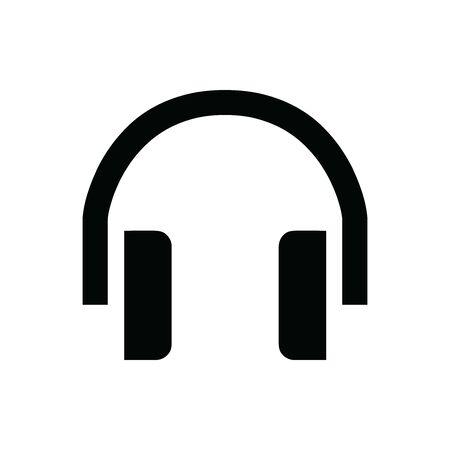 Black Head set audio symbol for banner, general design print and websites. Illustration vector. Standard-Bild - 133537035